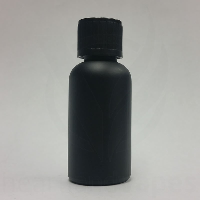 2oz Matte Black Glass Bottle Boston Round Eliquid 60ml