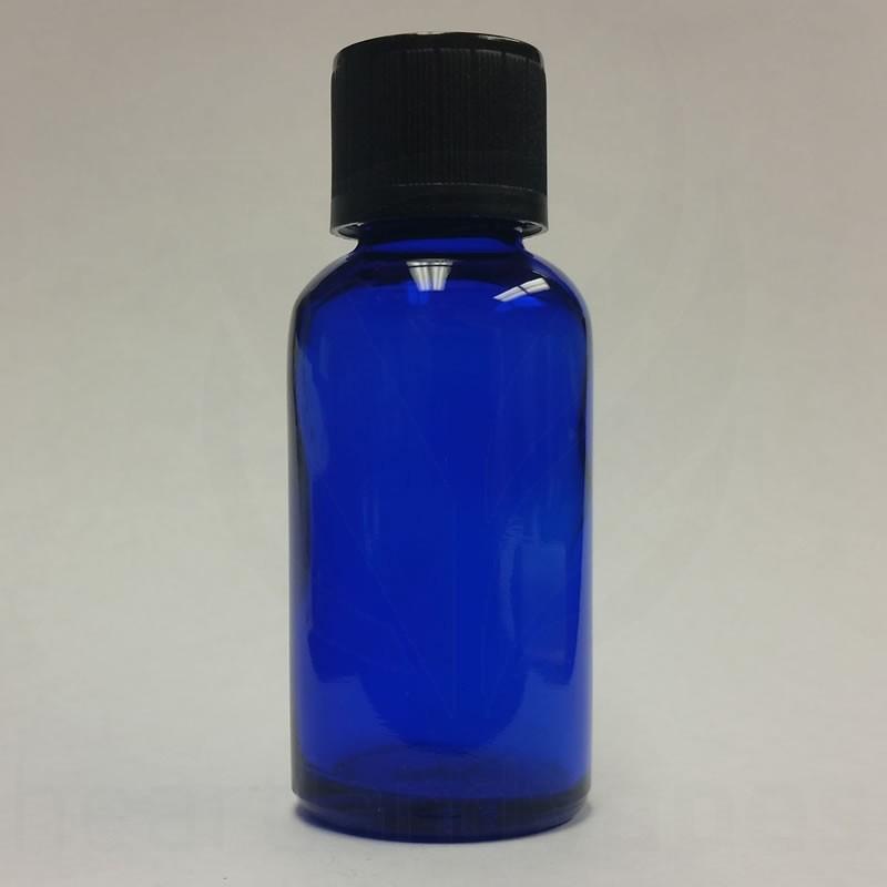 b91b7a76c858 1oz Blue Glass Bottle - Boston Round eLiquid 30ml Heartlandvapes ...