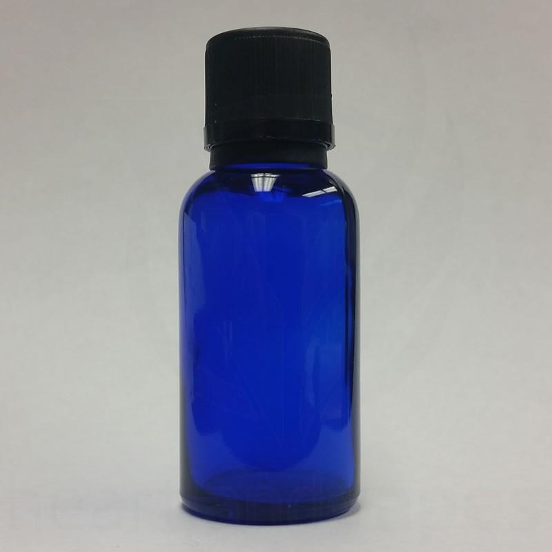 1oz Blue Glass Bottle Boston Round Eliquid 30ml
