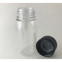 100ml V3 Transparent with Black Cap
