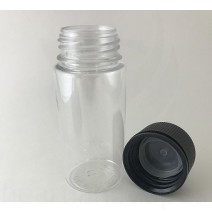 100ml V3 Transparent with Black Cap