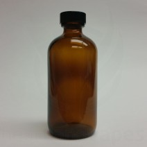 4oz Amber Glass Bottle - Boston Round 120ml