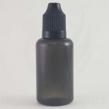 100ml Transparent Black Bottles (100 Lot)