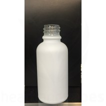 1oz (30ml) Matte White Glass Bottle - Certified*